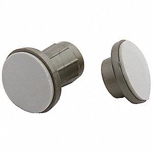 Satin Nickel ABS Plastic Adjustable Rod Flanges
