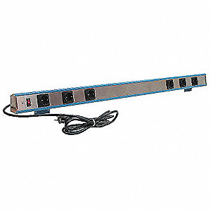 Outlet Strip, 8 Outlets, 15.0 Max. Amps, 9 ft. Cord Length