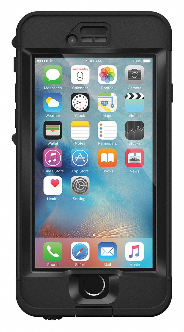 Cell Phone Case,  Fits Brand Apple,  Black,  Polycarbonate, Polymer, Rubber, Silicone