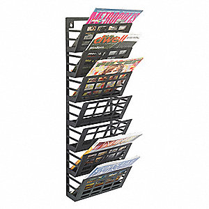 Magazine Rack,29-1/2 in. H,Wall Mount
