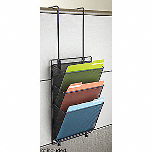 Wall File Organizer,4 in. D x 18 in. H