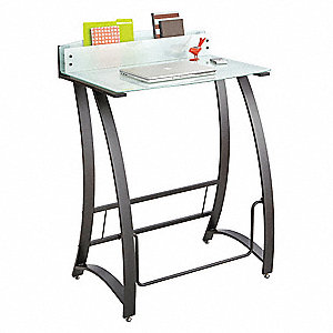 Stand-Up Workstation,35 in. W,Green Tint