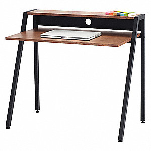 Stand-Up Workstation,37-3/4 in. W,Black