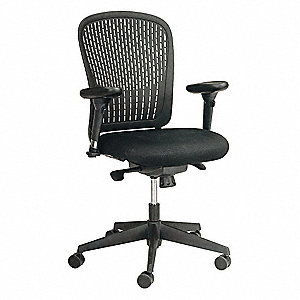 "Task Chair,Fabric,Black,17-21"" Seat Ht"