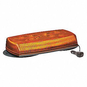 Mini Lightbar,LED,Amber,Magnetic,8 Heads