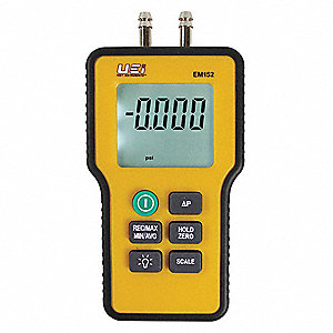Dual Differential Input Manometer, 9V