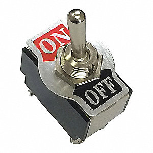 Toggle Switch,SPST,Screw,Silver