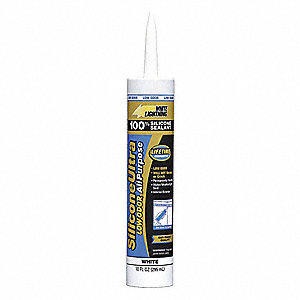 White Sealant, Silicone, 10.0 oz. Cartridge