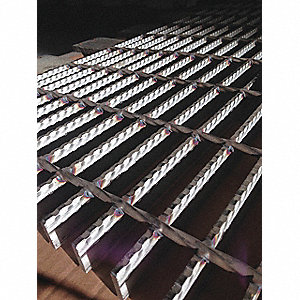 "Serrated Surface Bar Grating, 72"" Span, 36"" Width, 1.25"" Height"