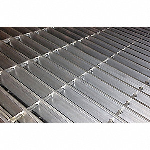 "Smooth Bar Grating, 120"" Span, 48"" X 1"", Aluminum"