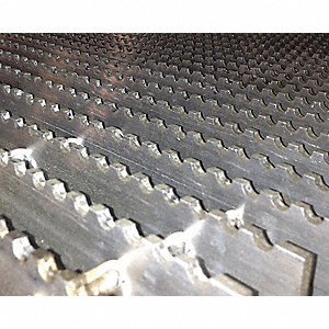 "Serrated Bar Grating, 120"" Span, 36"" X 1.5"", Aluminum"