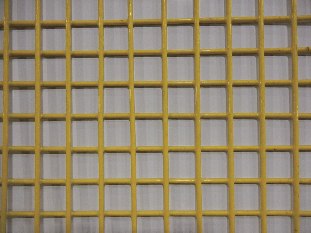 "Wire Mesh, Yellow, Med, 4 ft. W, 96"" L"