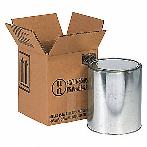 "Shipping Carton, Kraft, Inside Width 6-7/8"", Inside Length 6-7/8"", Inside Depth 7-7/8"", 100 lb."