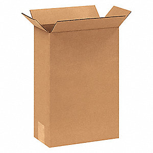 "Shipping Carton, Kraft, Inside Width 4"", Inside Length 8"", Inside Depth 12"", 65 lb., 25 PK"