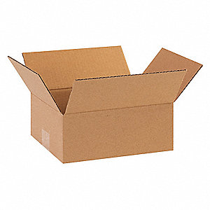 "Shipping Carton, Kraft, Inside Width 6"", Inside Length 8"", Inside Depth 2"", 65 lb., 25 PK"