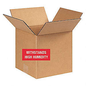 "Shipping Carton, Kraft, Inside Width 8"", Inside Length 8"", Inside Depth 8"", 80 lb., 25 PK"