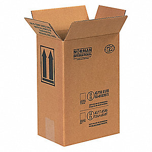 "Shipping Carton, Kraft, Inside Width 5-11/16"", Inside Length 8-3/16"", Inside Depth 12-3/8"", 95 lb."