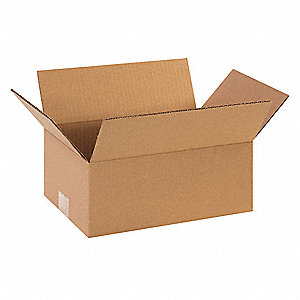 "Shipping Carton, Kraft, Inside Width 8"", Inside Length 11"", Inside Depth 5"", 65 lb., 1 EA"