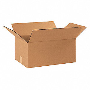"Shipping Carton, Kraft, Inside Width 10"", Inside Length 12"", Inside Depth 4"", 95 lb., 25 PK"
