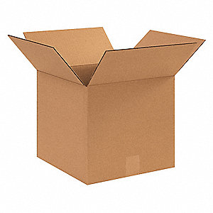 "Shipping Carton, Kraft, Inside Width 11"", Inside Length 11"", Inside Depth 10"", 65 lb., 25 PK"
