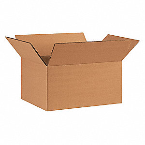 "Shipping Carton, Kraft, Inside Width 8-3/4"", Inside Length 11-1/4"", Inside Depth 6"", 100 lb., 15 PK"