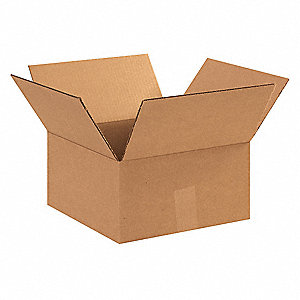 "Shipping Carton, Kraft, Inside Width 12"", Inside Length 12"", Inside Depth 8"", 95 lb., 25 PK"