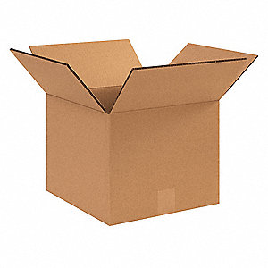 "Shipping Carton, Kraft, Inside Width 12"", Inside Length 12"", Inside Depth 10"", 95 lb., 25 PK"