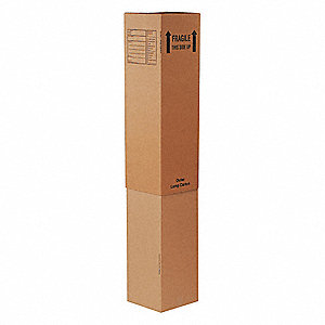 "Shipping Carton, Kraft, Inside Width 12"", Inside Length 12"", Inside Depth 46"", 65 lb., 15 PK"