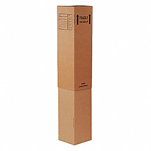 "Shipping Carton, Kraft, Inside Width 12-5/16"", Inside Length 12-5/16"", Inside Depth 40"", 65 lb."