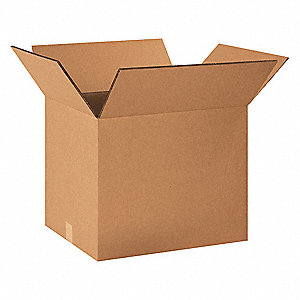 "Shipping Carton, Kraft, Inside Width 14"", Inside Length 20"", Inside Depth 14"", 100 lb., 15 PK"