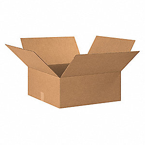 "Shipping Carton, Kraft, Inside Width 20"", Inside Length 20"", Inside Depth 7"", 65 lb., 15 PK"