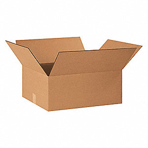 "Shipping Carton, Kraft, Inside Width 18"", Inside Length 22"", Inside Depth 10"", 65 lb., 20 PK"
