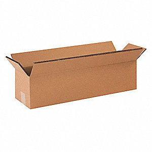 "Shipping Carton, Kraft, Inside Width 12"", Inside Length 48"", Inside Depth 12"", 100 lb., 10 PK"