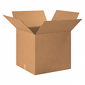 "Shipping Carton, Kraft, Inside Width 24"", Inside Length 24"", Inside Depth 26"", 65 lb., 10 PK"