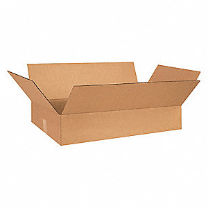 "Shipping Carton, Kraft, Inside Width 17"", Inside Length 26"", Inside Depth 5"", 65 lb., 25 PK"