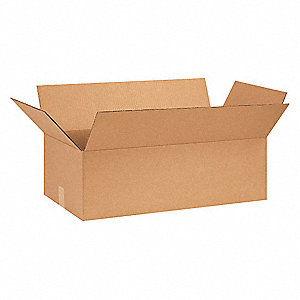 "Shipping Carton, Kraft, Inside Width 12"", Inside Length 28"", Inside Depth 8"", 65 lb., 25 PK"