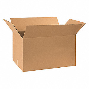 "Shipping Carton, Kraft, Inside Width 17"", Inside Length 30"", Inside Depth 17"", 120 lb., 5 PK"
