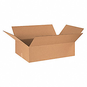"Shipping Carton, Kraft, Inside Width 10"", Inside Length 32"", Inside Depth 10"", 65 lb., 20 PK"