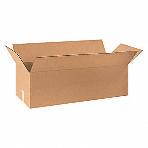 "Shipping Carton, Kraft, Inside Width 12"", Inside Length 32"", Inside Depth 10"", 65 lb., 20 PK"