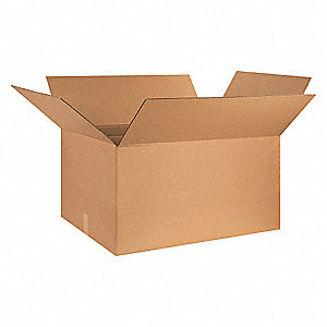 "Shipping Carton, Kraft, Inside Width 18"", Inside Length 32"", Inside Depth 18"", 65 lb., 15 PK"