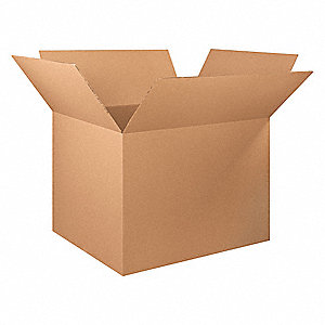 "Shipping Carton, Kraft, Inside Width 40"", Inside Length 48"", Inside Depth 36"", 120 lb., 5 PK"