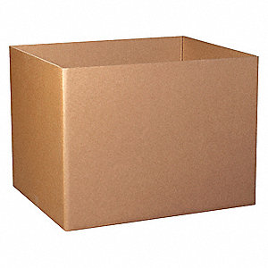 "Shipping Carton, Kraft, Inside Width 40"", Inside Length 48"", Inside Depth 36"", 280 lb., 5 PK"