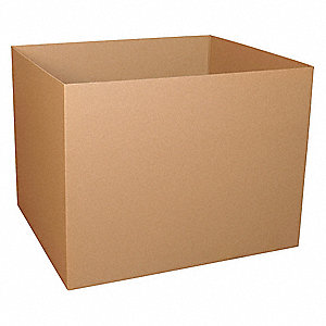 "Shipping Carton, Kraft, Inside Width 40"", Inside Length 48"", Inside Depth 48"", 280 lb., 5 PK"