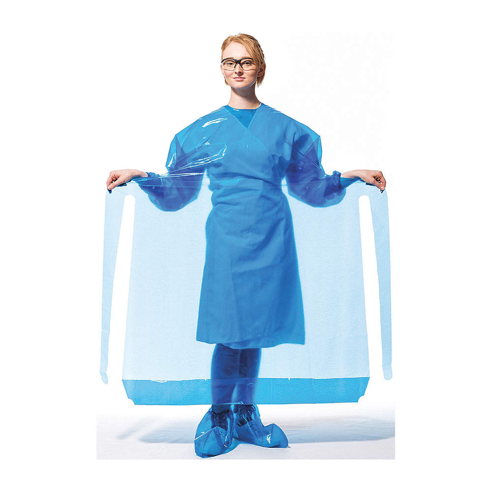 VR PROTECTIVE WEAR Gown, Blue, Necktie, 45\