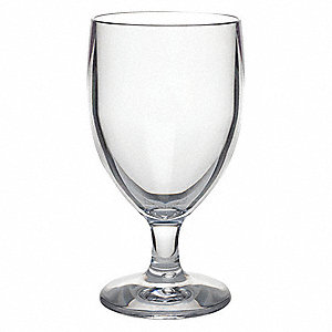 Goblet,10 oz.,5-3/4 in. H,Clear,PK12