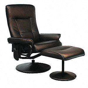 "Black Leather Massage Recliner Chair 27"" Back Height, Arm Style: Fixed"
