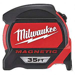 35 ft. Steel SAE Magnetic Tip Tape Measure, Black/Red