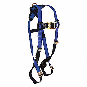 Premium Climbing Full Body Harness with 425 lb. Weight Capacity, Blue/Black, XL