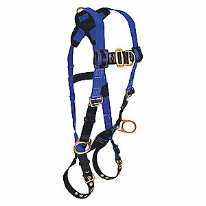 Premium Climbing Full Body Harness with 425 lb. Weight Capacity, Blue/Black, S