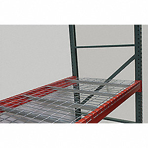 "46"" x 60"" Wire Mesh Decking with 2500 lb. Load Capacity, Gray Powder Coated"
